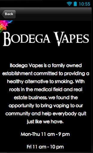 【免費生活App】Bodega Vapes-APP點子