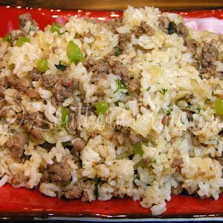 Homemade Dirty Rice.