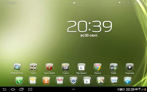 Glass Theme GO Launcher HD Pad - screenshot thumbnail