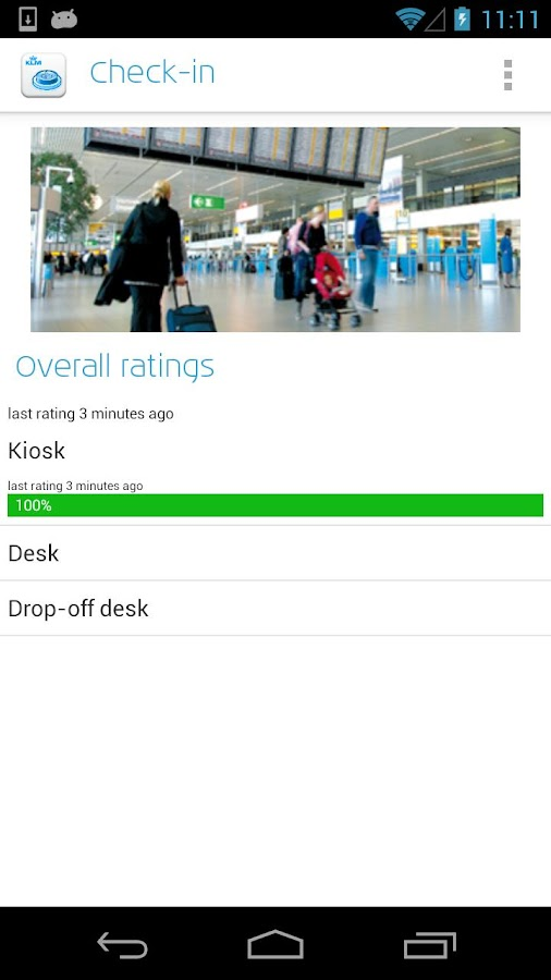 KLM Feedback- screenshot