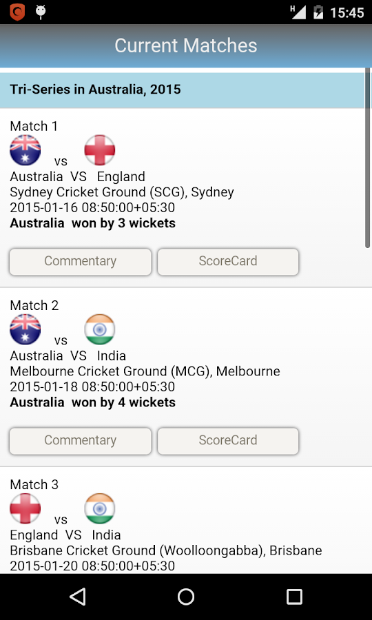 Live Cricket Commentary- screenshot