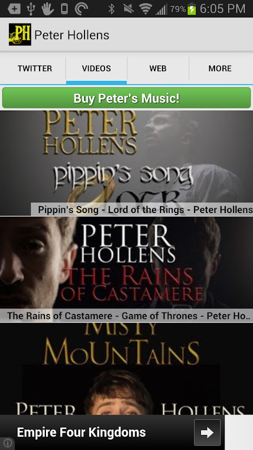 Peter Hollens Official- screenshot