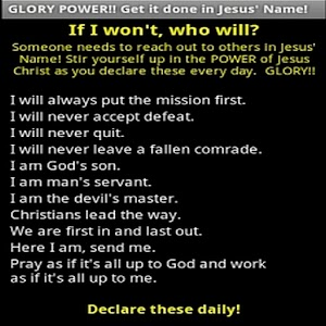 GLORY POWER to stir you up!