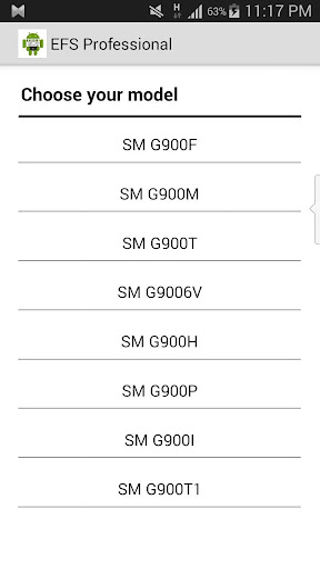 IMEI EFS Manager GalaxyS5-PRO