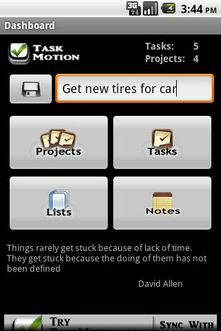 Task Motion - screenshot