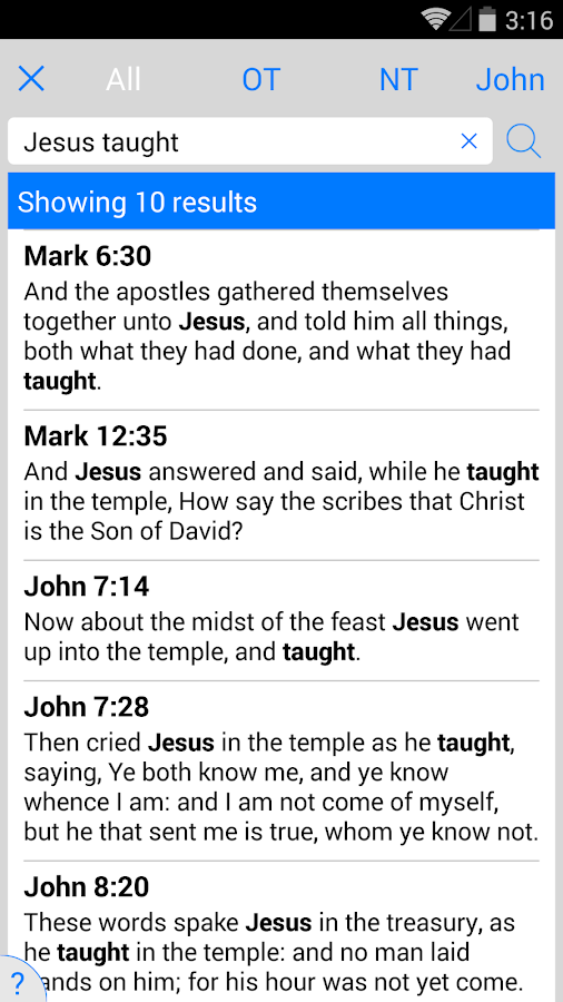Holy Bible KJV (Offline) - screenshot