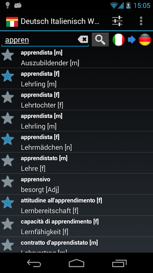 Offline German Italian Dict.- screenshot