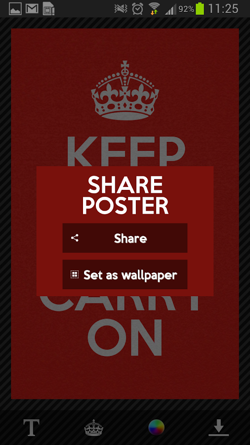 Keep Calm Generator - Android Apps on Google Play