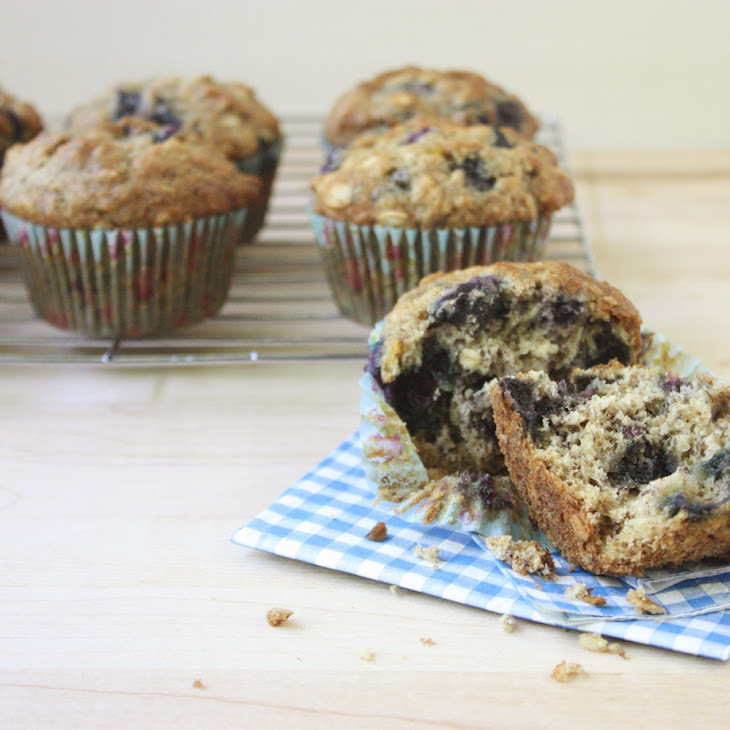 Banana, Blueberry and Ginger Muffins