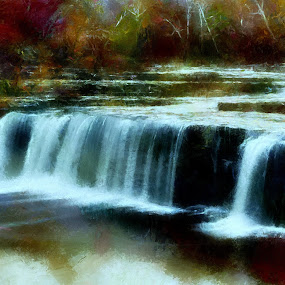 Darken falls by Scott Bennett - Painting All Painting