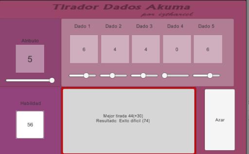 Dados Akuma