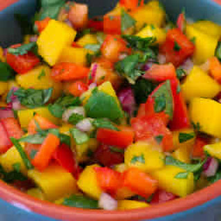 Mango Salsa with Red Bell Pepper.