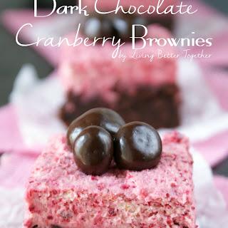 Dark Chocolate Cranberry Brownies.
