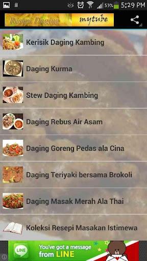 Resepi Masakan Daging