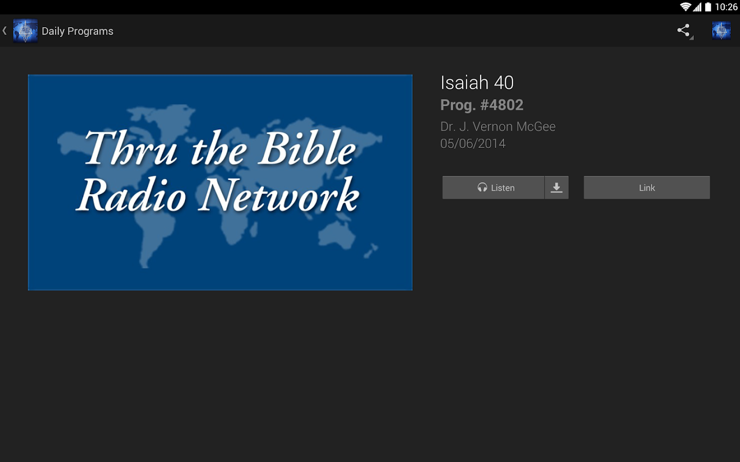 Thru The Bible Radio Network- screenshot