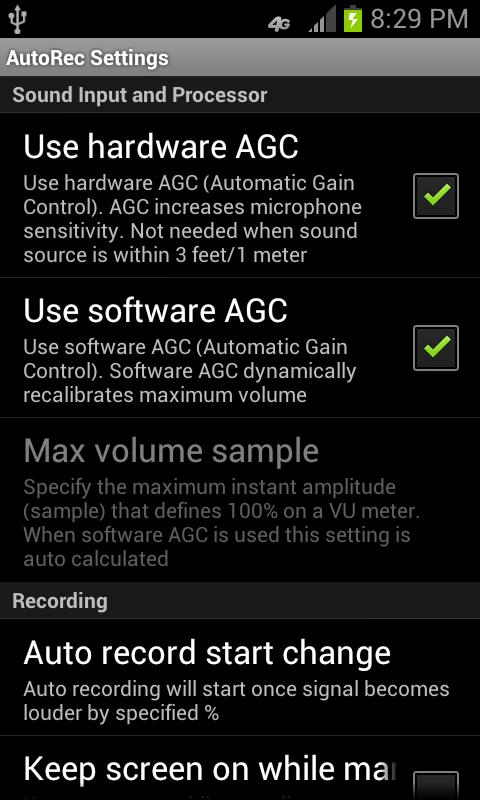 Automatic Audio Recorder- screenshot