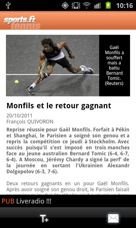 Sports.fr - screenshot