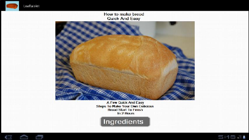 Homemade Bread Recipe - screenshot