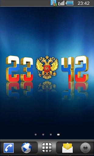 Цифровые часы Россия