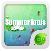 GO Keyboard Summer lotus theme