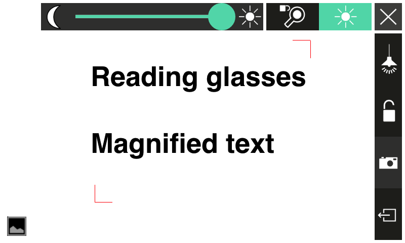 Reading magnifying glass free - screenshot