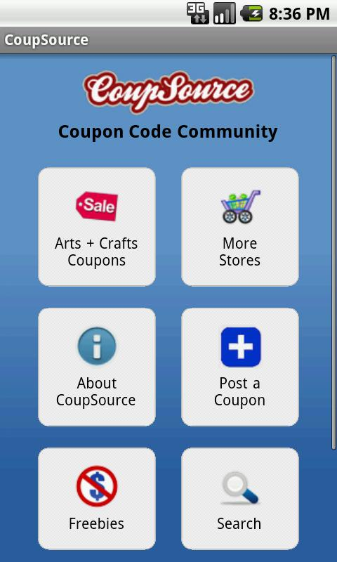 Arts and Crafts Coupons - screenshot