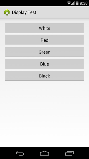 Fullscreen Display Test