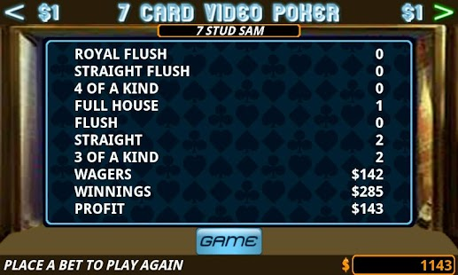 Seven Card Video Poker - screenshot thumbnail