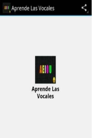 Aprendiendo Las Vocales