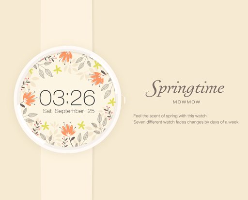 Springtime watchface by Mowmow