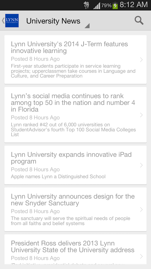 Lynn University- screenshot