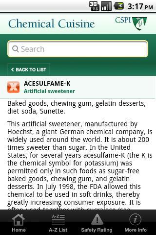 CSPI Chemical Cuisine - screenshot