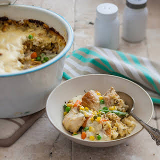 Chicken & Stuffing Slow Cooker Casserole.