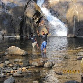 Mad men by Mayank Naharia - Nature Up Close Water ( canon, mountain, nature, waterfall, man )