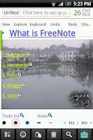 Screenshot of FreeNote+(2012)