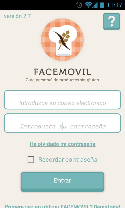FACEMOVIL: captura de pantalla