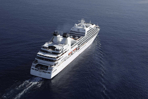 Seabourn Sojourn at sea.