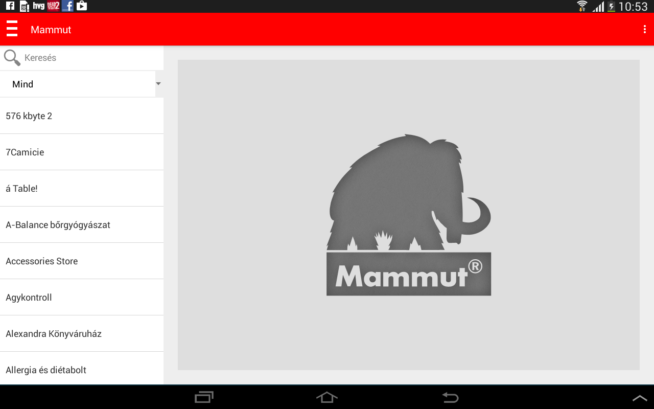 Mammut- screenshot