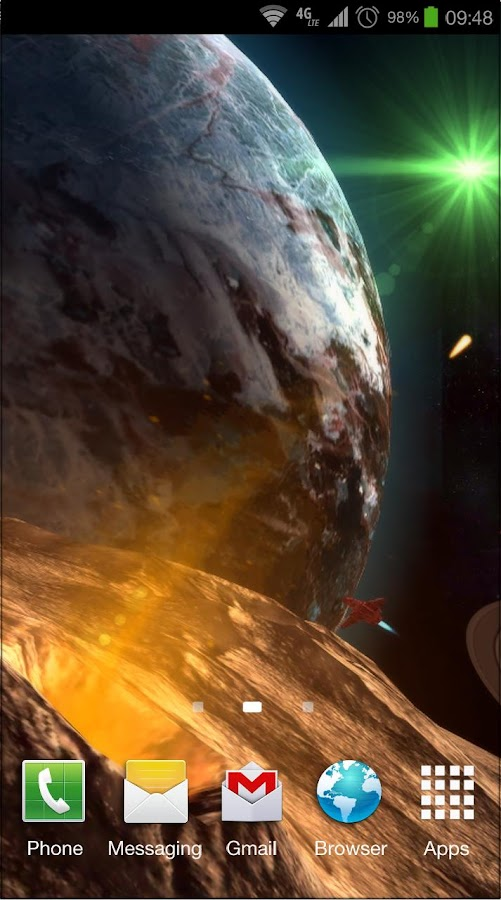 Planetscape 3D Live Wallpaper- screenshot