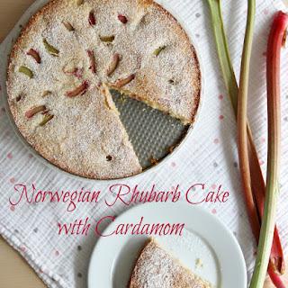 Norwegian Rhubarb Cake with Cardamom