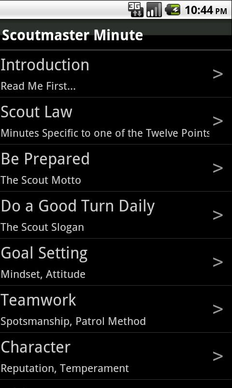 The Scoutmaster Minute- screenshot