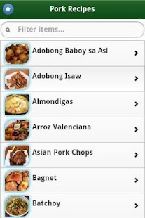Pinoy Food Recipes- screenshot thumbnail