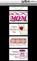 Screenshot of Mother's Day Card Sender