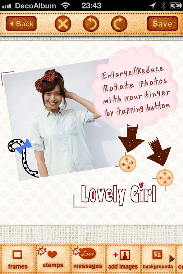 DecoAlbum Purikura Camera - screenshot