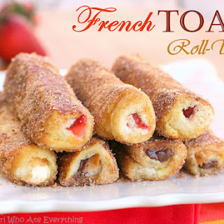 French Toast Roll-Ups.