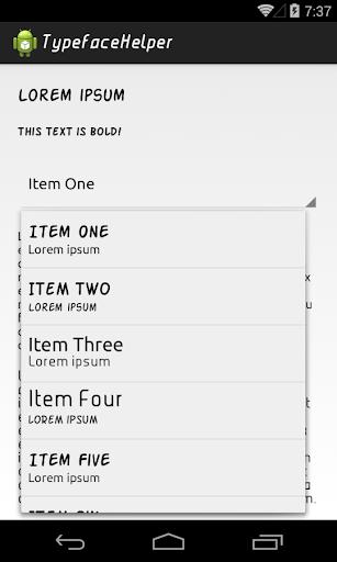 Typeface Helper Sample