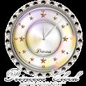 キラキラ☆姫系アナログ時計ウィジェットB icon