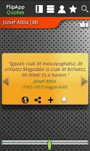 FlipApp FamousQuotes Hungarian- screenshot thumbnail