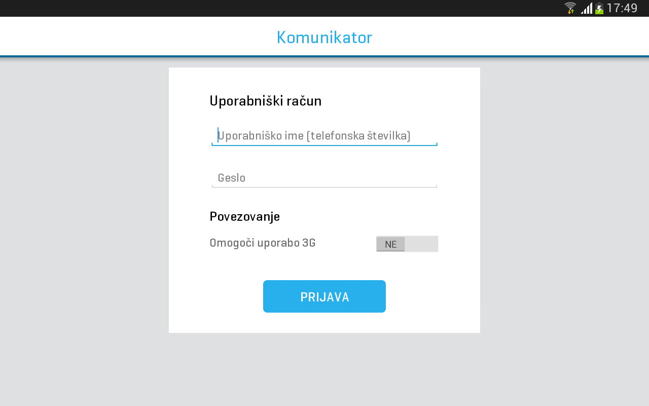 Komunikator- screenshot