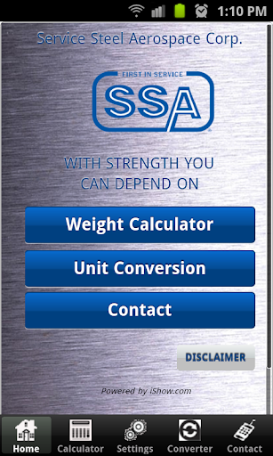 Service Steel Calculator